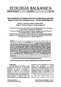 Bioaccumulation of Cadmium and Lead in Rodent Species from the ...