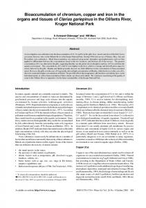 Bioaccumulation of chromium, copper and iron in the organs and ...