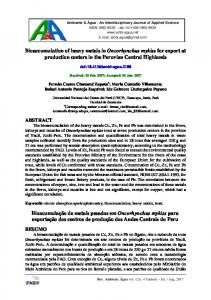 Bioaccumulation of heavy metals in Oncorhynchus mykiss for export at ...