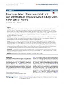 Bioaccumulation of heavy metals in soil and selected food crops ...