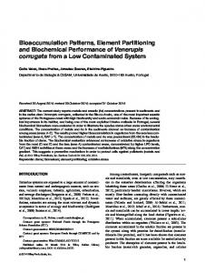 Bioaccumulation Patterns, Element Partitioning and