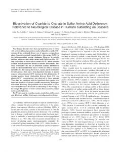 Bioactivation of cyanide to cyanate in sulfur amino acid deficiency ...