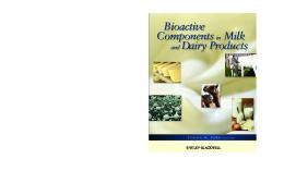 Bioactive Componentsin Milk and Dairy Products ...