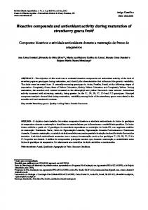 Bioactive compounds and antioxidant activity during ... - SciELO