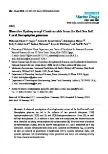 Bioactive Hydroperoxyl Cembranoids from the Red Sea Soft ... - MDPI