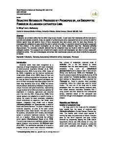 bioactive metabolite produced by phomopsis sp.,an ... - Scienceflora
