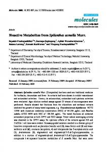 Bioactive Metabolites from Spilanthes acmella Murr