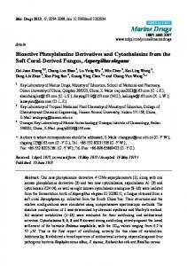 Bioactive Phenylalanine Derivatives and ... - BioMedSearch