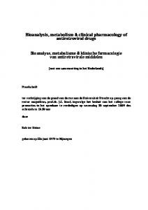 Bioanalysis, metabolism & clinical pharmacology of