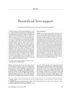 Bioartificial liver support - Hindawi