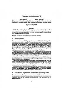 Bioassay Analysis using R