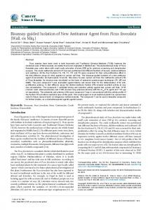 Bioassay-guided Isolation of New Antitumor ... - OMICS International