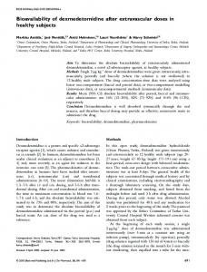 Bioavailability of dexmedetomidine after ... - Wiley Online Library