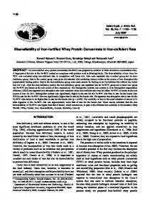 Bioavailability of Iron-fortified Whey Protein ...