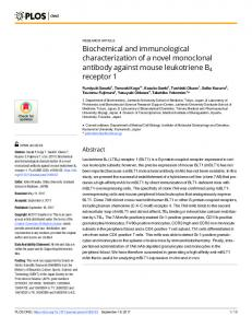 Biochemical and immunological characterization