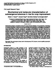 Biochemical and molecular characterization of ... - Academic Journals
