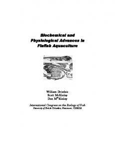 Biochemical and Physiological Advances in Finfish Aquaculture
