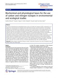 Biochemical and physiological bases for the use of ... - Springer Link