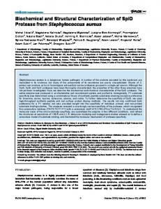 Biochemical and Structural Characterization of SplD ... - ScienceOpen