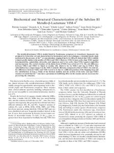 Biochemical and Structural Characterization of the Subclass B1 Metallo