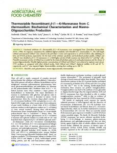Biochemical Characterization and Manno ...