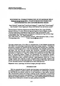 BIOCHEMICAL CHARACTERIZATION OF ...