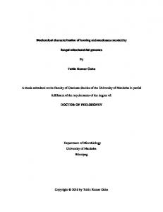 Biochemical characterization of homing ...