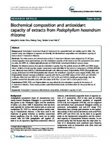Biochemical composition and antioxidant capacity of ... - BioMedSearch