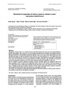 Biochemical composition of salivary stones in relation to stone- and