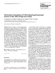 Biochemical consequences of 5-fluorouracil ... - Springer Link