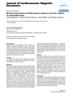 Biochemical markers of inflammatory response and their relation to ...