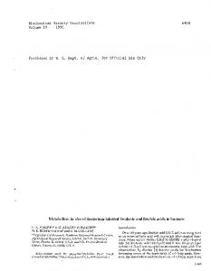 Biochemical Society Transactions Volume 18 1990 ... - PubAg - USDA