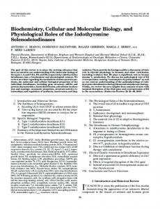 Biochemistry, Cellular and Molecular Biology, and Physiological Roles ...