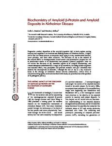 Biochemistry of Amyloid b-Protein and Amyloid ...