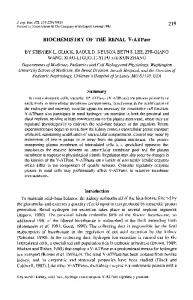 BIOCHEMISTRY OF THE RENAL V-ATPase - The Company of ...