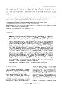 Biocompatibility and bioactivity of calcium silicate- based ... - SciELO