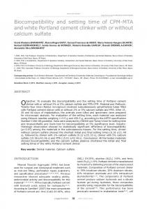 Biocompatibility and setting time of CPM-MTA and white ... - SciELO