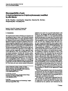 Biocompatibility of poly (3-hydroxybutyrate-co-3 ... - CiteSeerX
