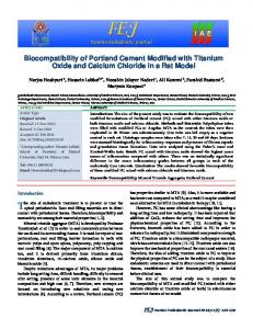 Biocompatibility of Portland Cement Modified with ...