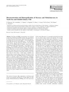 Bioconcentration and Biomagnification of Mercury and ... - Springer Link