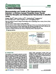 Bioconcentration and Transfer of the ... - ACS Publications