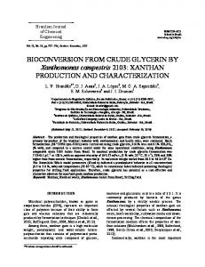 BIOCONVERSION FROM CRUDE GLYCERIN BY