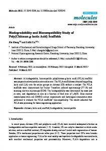 Biodegradability and Biocompatibility Study of Poly ... - CiteSeerX