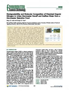 Biodegradability and Molecular Composition of Dissolved Organic ...