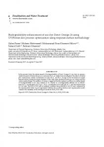 Biodegradability enhancement of azo dye Direct ...