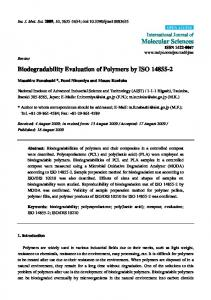 Biodegradability Evaluation of Polymers by ISO 14855-2 - MDPI