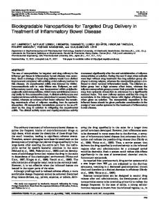 Biodegradable Nanoparticles for Targeted Drug Delivery in Treatment ...