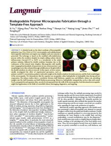 Biodegradable Polymer Microcapsules Fabrication through a ...