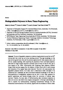 Biodegradable Polymers in Bone Tissue Engineering - MDPI