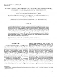 BIODEGRADATION OF ACETONITRILE BY CELLS OF ... - SciELO